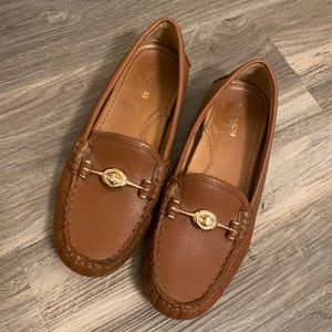 "Coach Brown Leather ""Arlene"" Loafer Slip Ons"